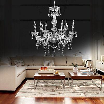 Elegant Crystal Chandelier Fixture Lighting Pendant Modern Lamp 6 Ceiling Light