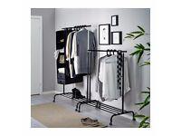 Ikea Rigga Clothes Rack in Black