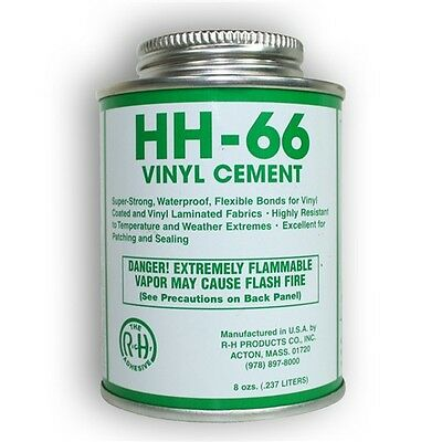 Hh 66 Vinyl Cement 8Oz  Foam Mats Awnings Seam Sealing W  Brush Included