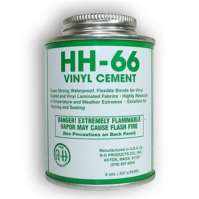 HH-66 Vinyl Cement 8oz. Foam/Mats/Awnings/Seam Sealing w/ Brush Included