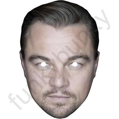 Leonardo DiCaprio Actor Card Face Mask. All Our Masks Are Pre-Cut!