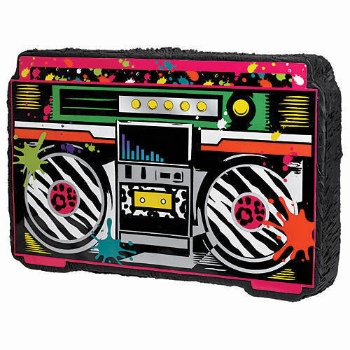 BOOM BOX PINATA perfect to bring you into the 80