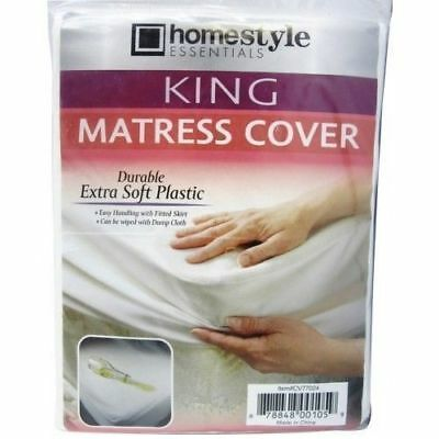 Waterproof Fitted Mattress Protector - King Size Fitted Mattress Cover Waterproof Plastic Bed Protector