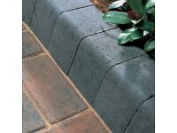 HALF PRICE 13 x New & Unused Charcoal Kerb Stones + 1 New Red Kerb Stone by Bradfords. OFFERS