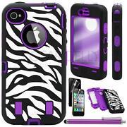Purple Zebra iPhone 4 Case