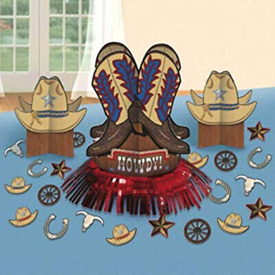 Western Themed Birthday Party (Yeehaw WESTERN THEME cowboy birthday party TABLE DECORATING KIT 3)