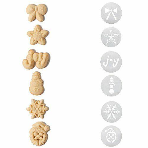 OXO GOOD GRIPS COOKIE PRESS CHRISTMAS DISC 6-PIECE SET *T2
