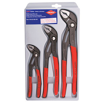 "Knipex 002006US1 3-Pc Cobra Pliers Set 7/10/12"""