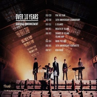 FT ISLAND - [OVER 10 YEARS] CD+1p PhotoCard+5p PostCard K-POP Sealed