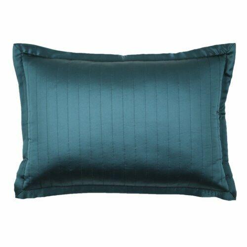 Ann Gish 100% Silk Channel Charmeuse 20×14 Decorative Pillow Sham Azure Bedding