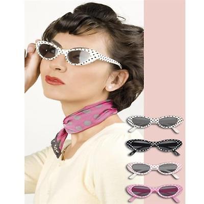 CAT EYE BRILLE Sandy  Fifties 50er 60er Jahre Petticoat Kostüm Party - Cat Eye Brille Kostüm