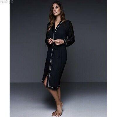 Hunkemöller Noir Long Chiffon Lace Sleeve Kimono Size 20-26 Uk BNWT Black