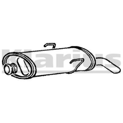 1x KLARIUS Replacement Rear / End Silencer Exhaust For PEUGEOT, CITROËN Petrol