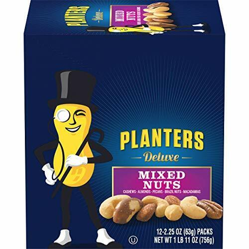 Planters Deluxe Mixed Nuts (2.25 oz Packets, Pack of 12)