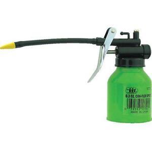 Can Flexible Spout Refillable 6.3oz Thumb Pump Oil Oiler Squirt Squeeze Trigger