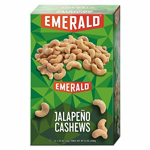 Emerald Jalapeno Cashews, 15 Ounce Packs, 12 Pack Total