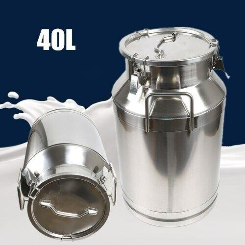 40L Restaurant Stainless Steel Milk Can Silicone Seal Wine Bucket Warranty