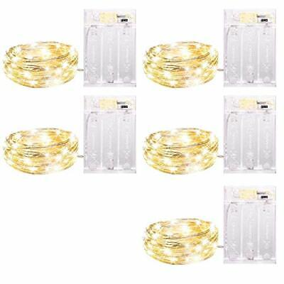 5 Pack Fairy Lights Battery Operated Waterproof 7 Feet LED Xmas Wedding Light