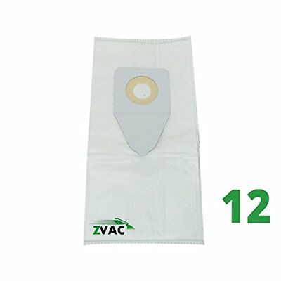 12 Bissell Type 1   7 Cloth Media Filtered Vacuum Bags By Zvac  12  Style 1