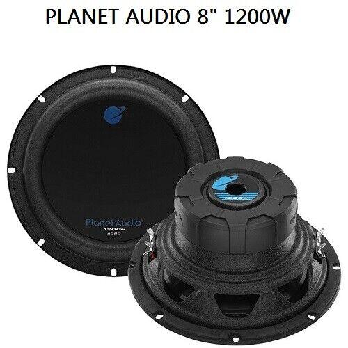 Planet Audio 8 Inch Subwoofer AC8D 1200 Watt Dual 4 Ohm High