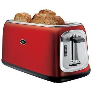 Oster Toaster - 4-Slice - Red