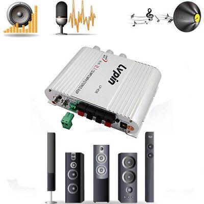 New 2.1 Lvpin 12V 200W Mini Hi-Fi Stereo Amplifier Radio MP3