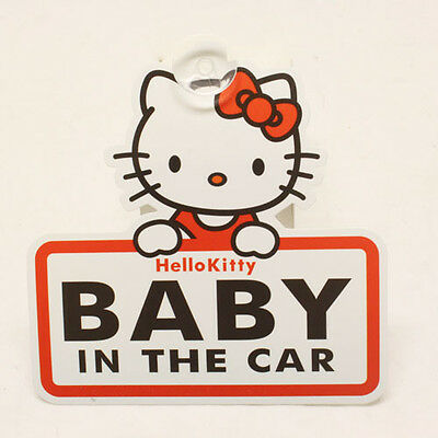 FUN CUTE HELLO KITTY BABY ON BOARD IN THE CAR SIGN CAR WINDOW SIGN - BABY GIRL