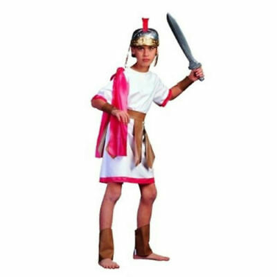 Spartan Soldier Costume (Roman Gladiator Spartan Soldier Child Costume w/ Drape, Shin & Wrist Guards)