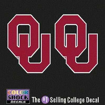 Oklahoma Sooners Decal   Small Ou Logo   2 Decals