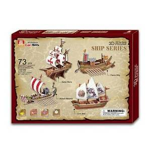 3D Puzzle Cardboard Jigsaw Model The Ships x 4 New Toy SALE Yarramalong Wyong Area Preview