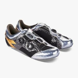 New DIADORA D-STELLAR Black/Chrome Road Bike Cycling Shoes $500