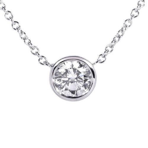 Diamond bezel pendant ebay aloadofball Choice Image