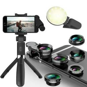 NEW Phone Bluetooth Selfie, Phone Camera Lens, Led Fill Light- ALL$29
