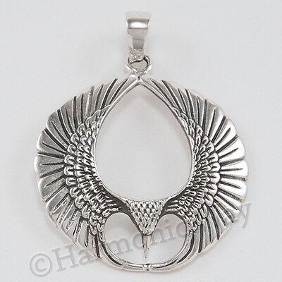 PHOENIX Pendant RISING MYTHICAL FIRE BIRD talisman amulet Sterling Silver 925