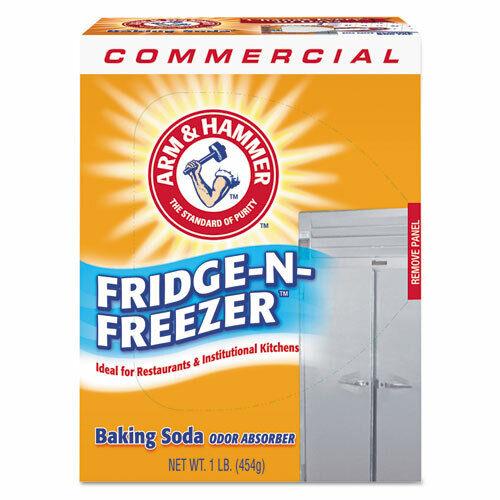 Fridge-N-Freezer Pack Baking Soda, Unscented, Powder, 16 oz, 12/Carton