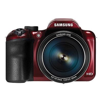 Samsung WB1100F 16.2MP CCD Smart WiFi & NFC Digital Camera Red