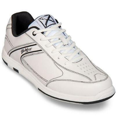 KR Strikeforce Mens Flyer White/Black Bowling Shoes