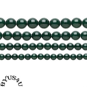 MOUNTAIN JADE ROUND BEADS CHOICE of COLOR and SIZE 16 inch STRAND