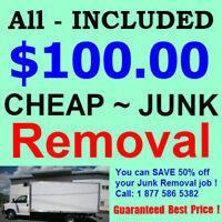 Lowest rates on garbage disposal and JUNK REMOVAL