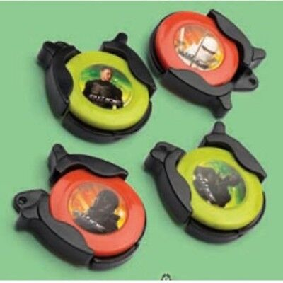 GI JOE Rise of Cobra FLYING DISCS (4) ~ Birthday Party Supplies Favors Toys - Gi Joe Party Supplies