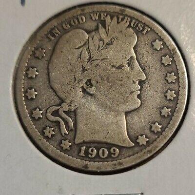 1909 P Barber U S Quarter - $8.99