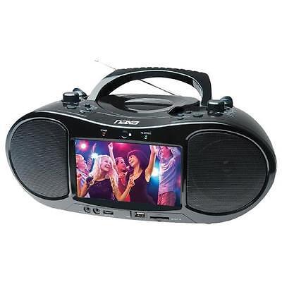 "Naxa NDL-257 7"" Bluetooth DVD Boombox And TV"