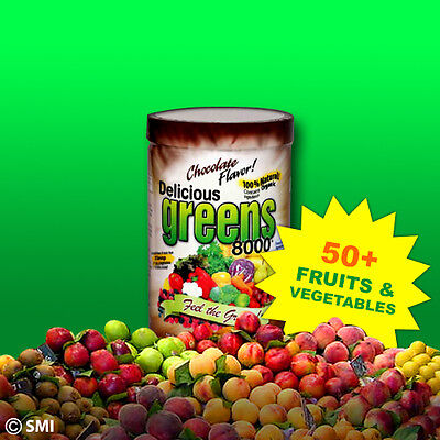 Get All Day Energy Delicious Greens 8000 New Chocolate 50  Veggies   Fruits