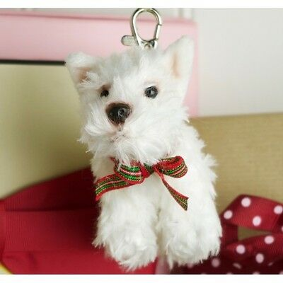 Fluffy Westie Key Ring Bag Charm