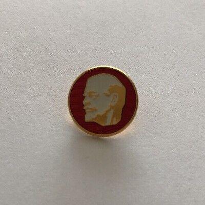 Vintage Soviet Russian USSR Communist Vladimir Lenin Pin Badge