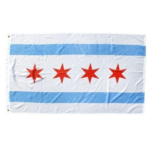 3x5 City of Chicago Flag 3'x5' House Banner grommets super p