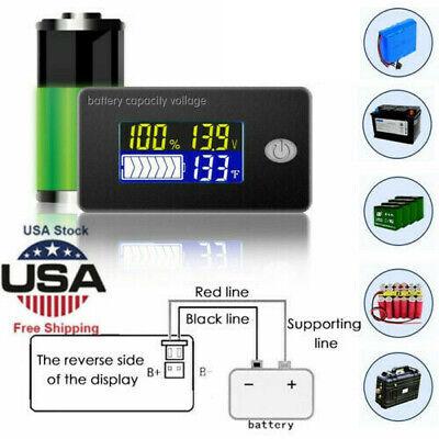 Durable 122448v Battery Capacity Status Lcd Digital Indicator Monitor Meters