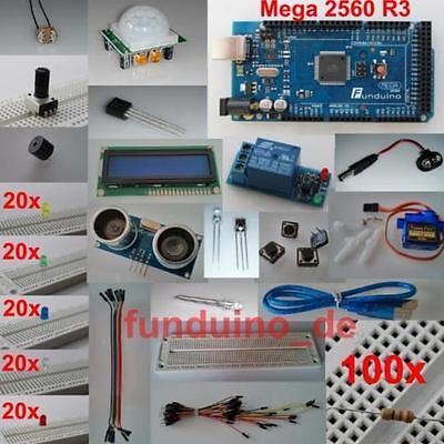 Kit Set Fr Arduino Mit Mega2560 R3 Mikrocontroller Viel Zubehr Lernset