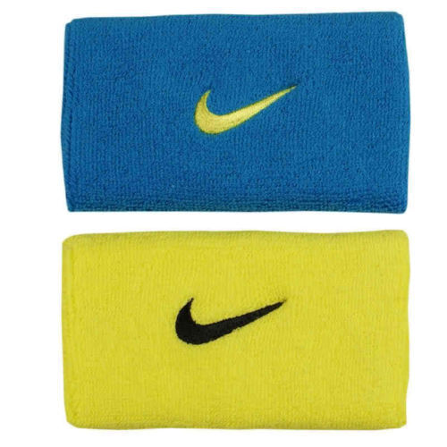 Tennis NIKE Federer Nadal 2011 exclusive wristbands sonic yellow / blue glow