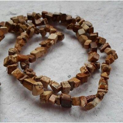 """34"""" Strand of Varigated Jasper Chips"""